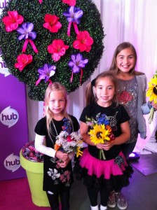 Posing with their vibrant hand-picked bouquets!