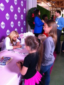 "Autograph signing by Tara Strong, voice of My Little Pony's  ""Twilight Sparkle""."