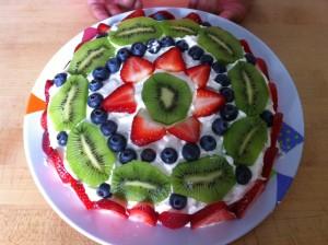 a New Zealand Pavlova cake