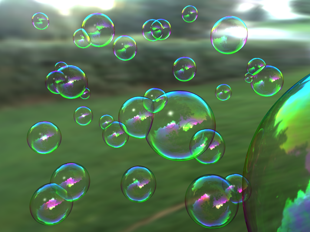 Juggling bubbles Bubble
