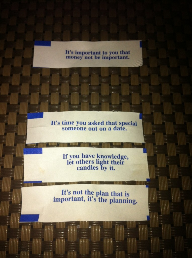 I really love fortune cookies.