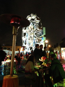 Why yes, that is a fully functioning ferris wheel you see here!