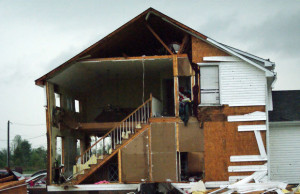 Can you imagine if one minute your house was intact and the next it looked like this?
